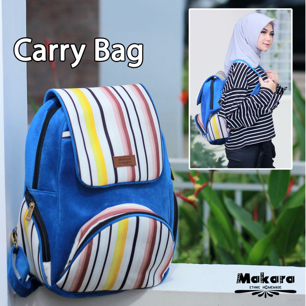 Makara Etnik Produsen Tas Dompet Wanita Indonesia MCB Carry Bag Fallow On Model