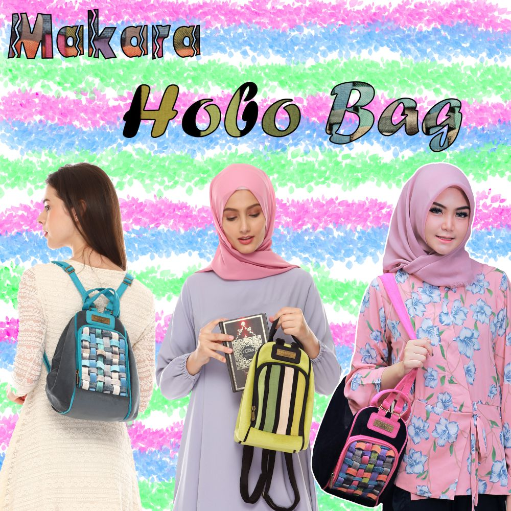 Makara Etnik Produsen Tas Dompet Wanita Indonesia MHB Hobo Bag On Model All Transformation