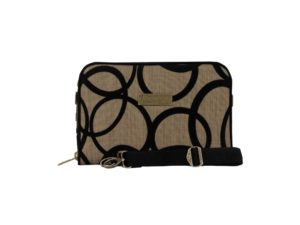 Makara Etnik Produsen Tas Dompet Wanita Indonesia MPB Pretenzio Bag Flocking Series Circle Black Brown