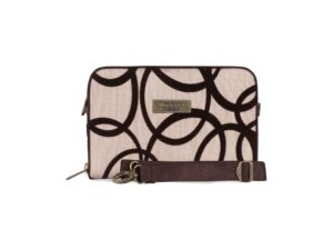 Makara Etnik Produsen Tas Dompet Wanita Indonesia MPB Pretenzio Bag Flocking Series Circle Cream Brown