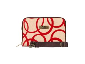 Makara Etnik Produsen Tas Dompet Wanita Indonesia MPB Pretenzio Bag Flocking Series Circle Cream Red