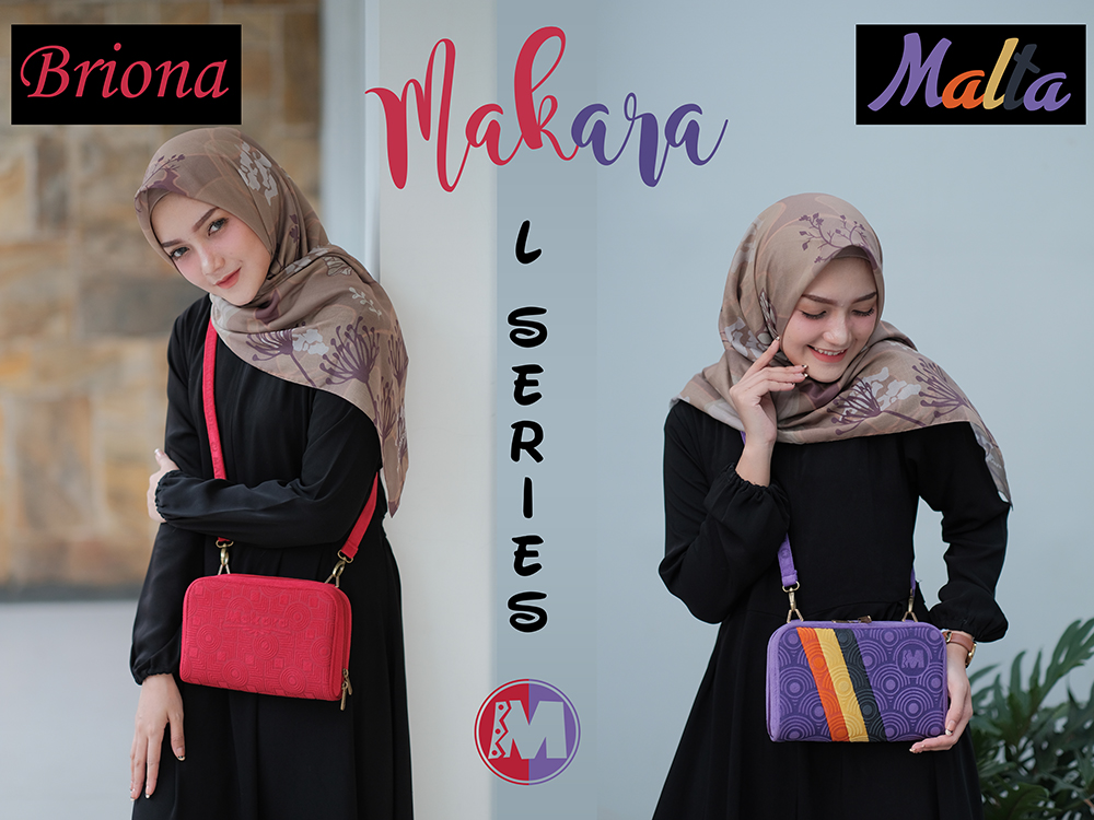 Makara Etnik Produsen Dompet Wanita Indonesia Cara Authentic Organizer L Series Style Briona Line Malta On Model